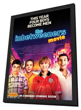 The Inbetweeners Movie - 11 x 17 Movie Poster - Australian Style A - in Deluxe Wood Frame