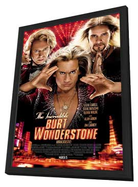 The Incredible Burt Wonderstone - 11 x 17 Movie Poster - Style A - in Deluxe Wood Frame
