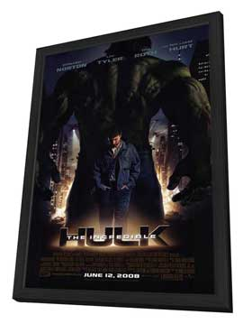 The Incredible Hulk - 11 x 17 Movie Poster - Style A - in Deluxe Wood Frame