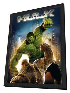 The Incredible Hulk - 11 x 17 Movie Poster - Style C - in Deluxe Wood Frame