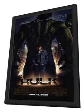 The Incredible Hulk - 27 x 40 Movie Poster - Style A - in Deluxe Wood Frame