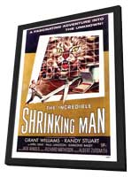 The Incredible Shrinking Man - 27 x 40 Movie Poster - Style A - in Deluxe Wood Frame