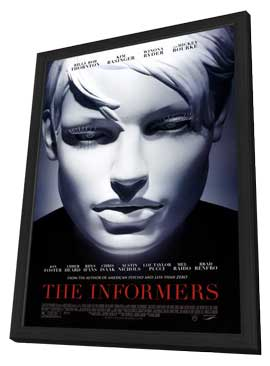 The Informers - 27 x 40 Movie Poster - Style A - in Deluxe Wood Frame