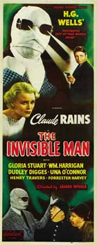 The Invisible Man - 14 x 36 Movie Poster - Insert Style A