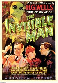 The Invisible Man - 43 x 62 Movie Poster - Bus Shelter Style A