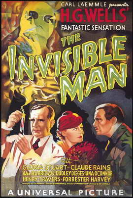 The Invisible Man - 27 x 40 Movie Poster - Style D