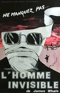 The Invisible Man - 11 x 17 Movie Poster - French Style A