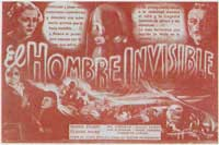 The Invisible Man - 11 x 17 Movie Poster - Spanish Style A