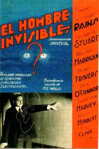 The Invisible Man - 11 x 17 Movie Poster - Spanish Style B