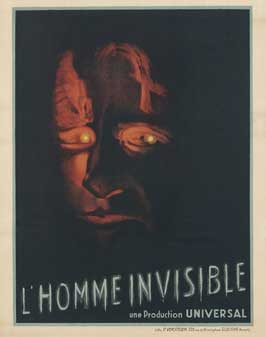 The Invisible Man - 11 x 17 Movie Poster - Belgian Style B