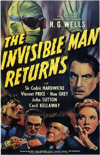 Invisible Man Returns, The - 43 x 62 Movie Poster - Bus Shelter Style A