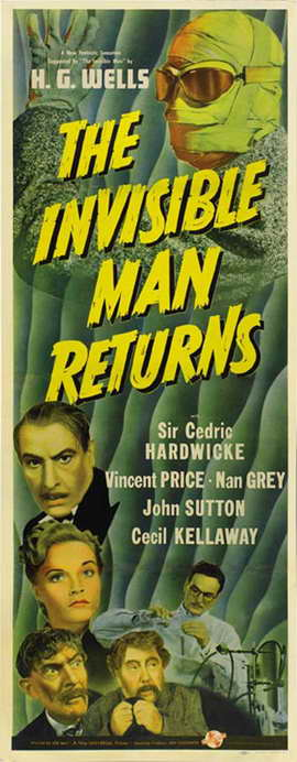 Invisible Man Returns, The - 14 x 36 Movie Poster - Insert Style A