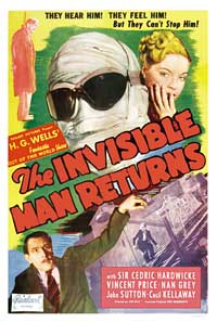 Invisible Man Returns, The - 27 x 40 Movie Poster - Style B
