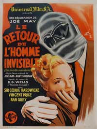 Invisible Man Returns, The - 11 x 17 Movie Poster - French Style A