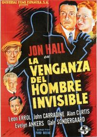 The Invisible Man's Revenge - 11 x 17 Movie Poster - Spanish Style A