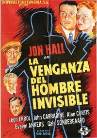 The Invisible Man's Revenge - 27 x 40 Movie Poster - Spanish Style A