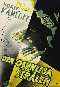 The Invisible Ray - 27 x 40 Movie Poster - Swedish Style A