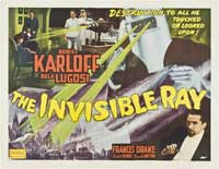 The Invisible Ray - 30 x 40 Movie Poster UK - Style A