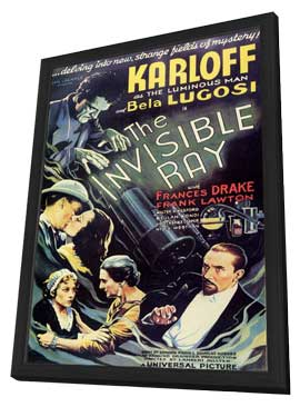 The Invisible Ray - 11 x 17 Movie Poster - Style B - in Deluxe Wood Frame