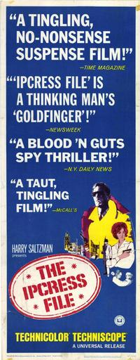 The Ipcress File - 14 x 36 Movie Poster - Insert Style A