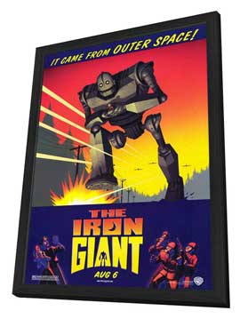 Iron Giant - 11 x 17 Movie Poster - Style A - in Deluxe Wood Frame