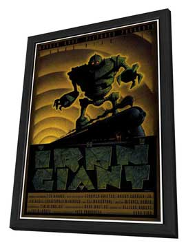 Iron Giant - 11 x 17 Movie Poster - Style C - in Deluxe Wood Frame