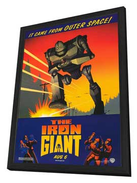 Iron Giant - 27 x 40 Movie Poster - Style A - in Deluxe Wood Frame