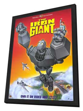 Iron Giant - 27 x 40 Movie Poster - Style B - in Deluxe Wood Frame