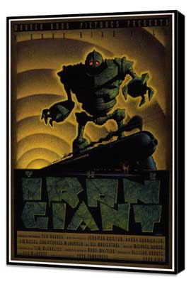 Iron Giant - 11 x 17 Movie Poster - Style C - Museum Wrapped Canvas