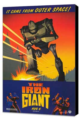 Iron Giant - 27 x 40 Movie Poster - Style A - Museum Wrapped Canvas