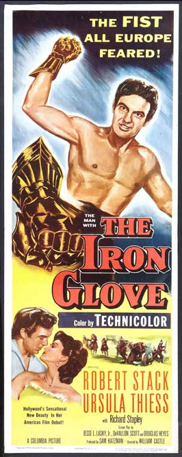 The Iron Glove - 14 x 36 Movie Poster - Insert Style A