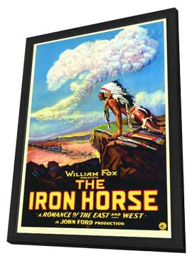 The Iron Horse - 27 x 40 Movie Poster - Style A - in Deluxe Wood Frame
