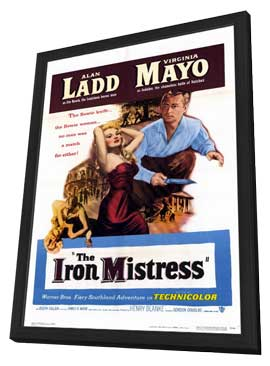 The Iron Mistress - 11 x 17 Movie Poster - Style A - in Deluxe Wood Frame