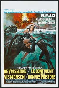 The Island of the Fishmen - 11 x 17 Movie Poster - French Style A