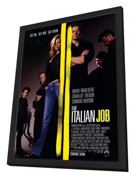 The Italian Job - 11 x 17 Movie Poster - Style A - in Deluxe Wood Frame