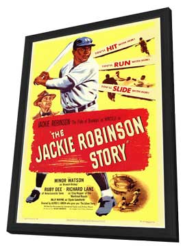The Jackie Robinson Story - 11 x 17 Movie Poster - Style A - in Deluxe Wood Frame
