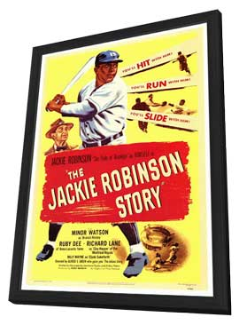The Jackie Robinson Story - 27 x 40 Movie Poster - Style A - in Deluxe Wood Frame