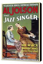 The Jazz Singer - 27 x 40 Movie Poster - Style A - Museum Wrapped Canvas