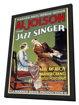 The Jazz Singer - 27 x 40 Movie Poster - Style A - in Deluxe Wood Frame