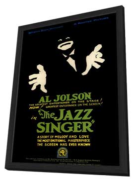 The Jazz Singer - 11 x 17 Movie Poster - Style B - in Deluxe Wood Frame