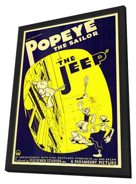 The Jeep - 11 x 17 Movie Poster - Style A - in Deluxe Wood Frame