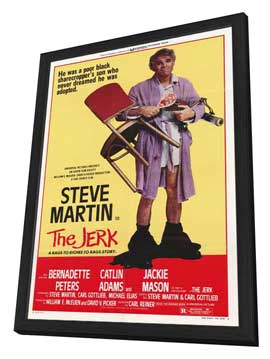 The Jerk - 27 x 40 Movie Poster - Style A - in Deluxe Wood Frame