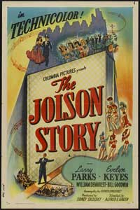The Jolson Story - 43 x 62 Movie Poster - Bus Shelter Style B