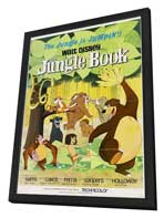 Jungle Book, The - 11 x 17 Movie Poster - Style E - in Deluxe Wood Frame