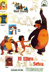 Jungle Book, The - 11 x 17 Movie Poster - Spanish Style E