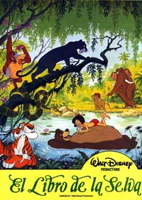 Jungle Book, The - 11 x 17 Movie Poster - Spanish Style G