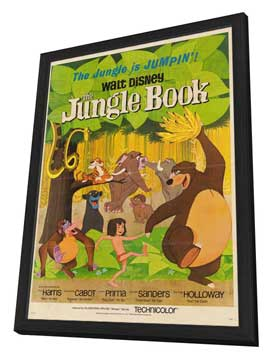 Jungle Book, The - 27 x 40 Movie Poster - Style B - in Deluxe Wood Frame