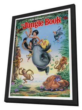 Jungle Book, The - 27 x 40 Movie Poster - Style A - in Deluxe Wood Frame