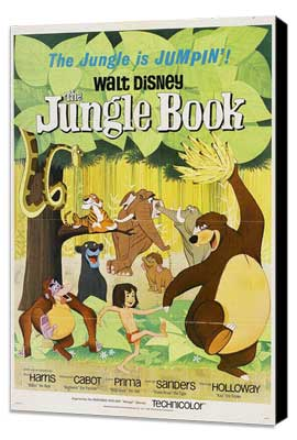 Jungle Book, The - 11 x 17 Movie Poster - Style E - Museum Wrapped Canvas