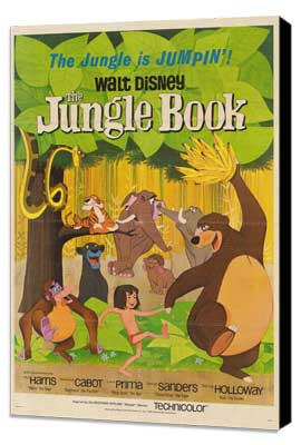 Jungle Book, The - 27 x 40 Movie Poster - Style B - Museum Wrapped Canvas